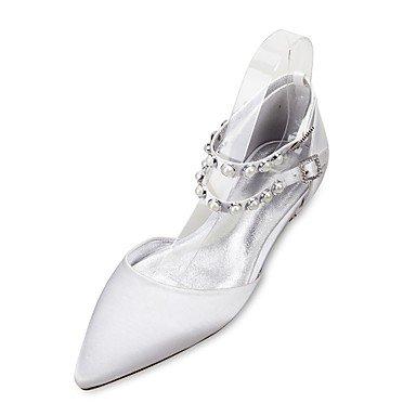 Rtry Chaussures De Mariage Pour Femme Marydorsay & Amp; Satin Comfort Spring Summer Party En Deux Parties Et Amp; Robe De Soirée Plate Strass Heelivory Us5.5 / Eu36 / Uk3.5 / Cn35