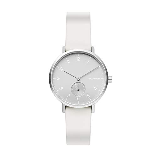Skagen Unisex Erwachsene Analog Quarz Uhr mit Silikon Armband SKW2763