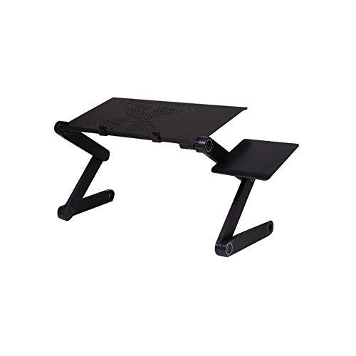 Docooler Laptop-Tischständer Tragbarer mobiler Laptop Stehender Schreibtisch mit Mauspad Voll ergonomische Halterung Laptop Buchen Ultraleicht Aluminium-Bettablage-Schreibtisch - Aluminium-computer-schreibtisch