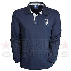RBS 6 nations Lang Arm Klassisch Rugby Shirt Junior - Marineblau, Small Junior, Small Junior