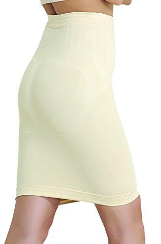 Shapewear Damen Fest Im Griff (UnsichtBra Damen Figurformender Miederrock, bauchhoch (sw_0700)(S (36-42), Beige))