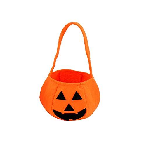 Kind Patrouille Kostüm Auf - Non-Woven Stoff Kürbis Halloween Trick or Treat Taschen Traditionelle Halloween Candy Bag für Kinder, robust und Fun Laterne Stil