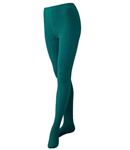 EveryKid Ewers Mädchenstrumpfhose Strumpfhose Markenstrumpfhose Kleinkind Streetwear ganzjährig einfarbig für Kinder (EW-94245-S17-MA4-119-134/146) in Jade, Größe 134/146 inkl Fashionguide