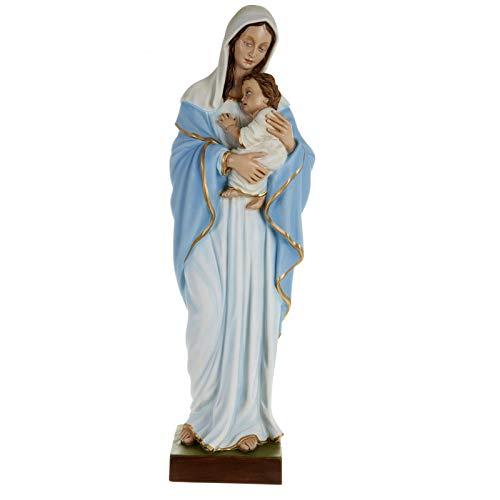 Holyart Estatua de la Virgen con el Niño en el Pecho 80 cm