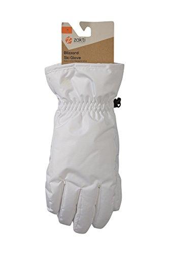 Zakti Blizzard Ski Gloves Weiß Medium (Glove Pace)