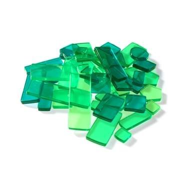 Luzy Mosaik Transparent, 40g, Grün Mix