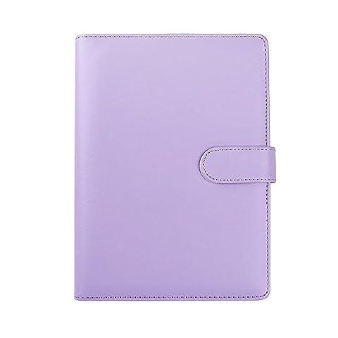 Ya Jin A5Cuir en vrac recharge pour ordinateur portable à anneaux Planning de remplacement pour bloc-notes Coque violet