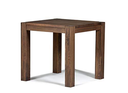 Naturholzmöbel Seidel Esstisch Rio Bonito 80x80 cm quadratisch Pinie Massivholz geölt und gewachst, Holz Tisch für Esszimmer, Wohnzimmer Küche, Farbton Cognac braun, Optional: passende Bänke