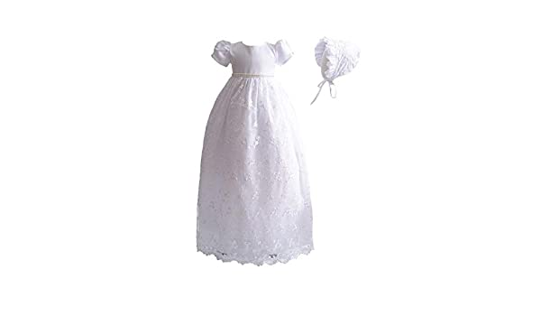 Baby Girls Boys Luxury Lace Embroidered Christening Summer Occasion Bonnet 0-3 Months Baby Blue