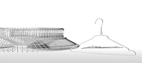 Drahtkleiderbügel, Metallkleiderbügel, hochwertig verzinkt, ca. 40cm breit, Materialstärke: 2,3mm, 50