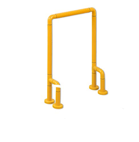 ZYFFS Griffstange Handlauf , Toiletten-Handlauf für Toilettengänge , Barrierefreies Sicherheitsregal , Geländerarm-Armlehne Hilfsmittel für Bad (Farbe : Gelb)