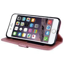 Cover iPhone 6S Plus 6 Plus Pelle Unicorno, Unicorno Portachiavi Peluche, E-Unicorn Cover Custodia Apple iPhone 6S Plus 6 Plus Pelle Unicorno Modello Brillantini Glitter Portafoglio Oro Rosa PU + TPU  Oro Rosa