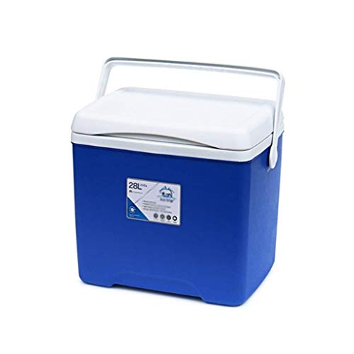 kühlbox Kunststoff Auto-Kühlschrank Kältetechnik Multifunktions-Outdoor-Isolierbox 28L (Color : Blue)