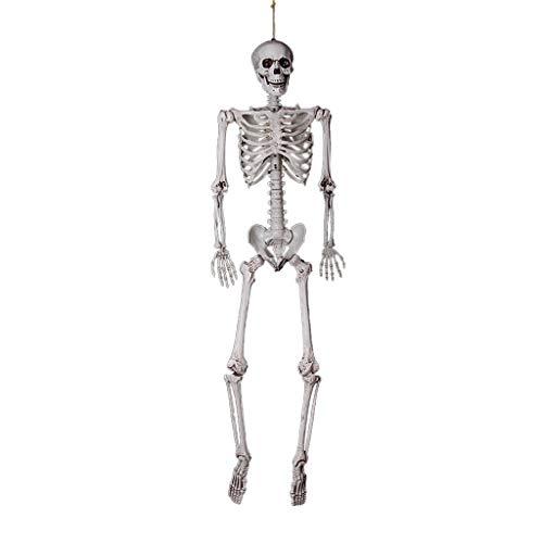 AMUSTER Halloween Karnaval Fasching Skelett Schädel Party Dekor Party & Halloween Dekoration Ganzkörper Horror Skeleton
