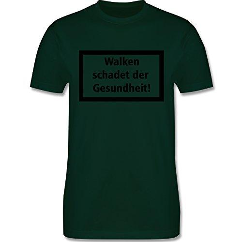 Laufsport - Walken schadet der Gesundheit - Herren Premium T-Shirt Dunkelgrün