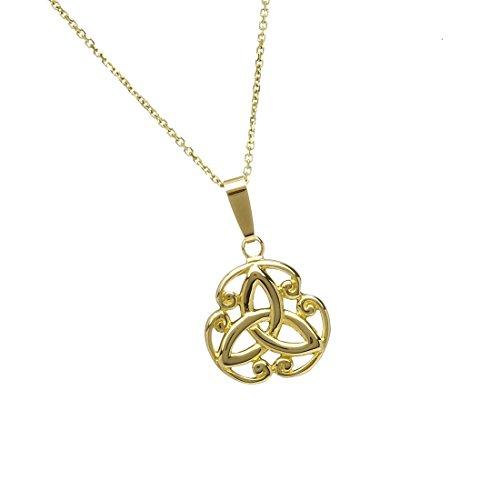 Keltischer Trinity-Knoten-Anhänger aus 10 - Herren Versprechen Irish Ring