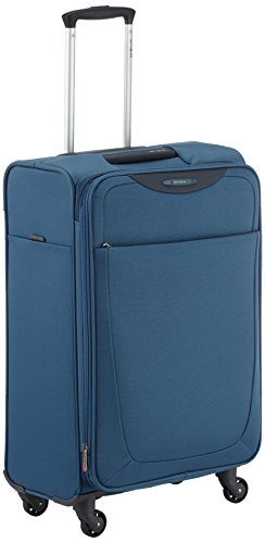 Samsonite Base Hits Spinner 66/24 Valigia Espandibile, Poliestere, Steel Blue, 69 ml, 66 cm