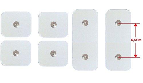 4+ 2Elektroden Pads Flicken Aufkleber 5x 5cm 5x 10cm Ersatzteile Gürtel Dual Shaper und ABS A Round Gymform Dual Knöpfe
