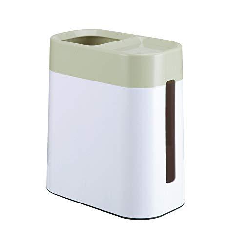 TZZ Desktop Kreative Mülleimer, Haushalt Zwei-in-one Mülleimer Tissue-Box Mülleimer Multifunktions-Flip-Cover Mini Portable Müll Lagerplatz (Farbe : Green)
