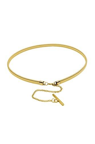 Black Butterfly Gold Silver Metal Snake Chain Elastic Waist Belt (BBA035)