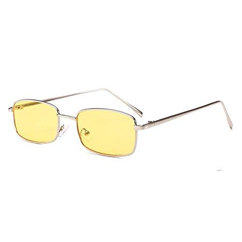 Highdas Kleine Quadratische Sonnenbrille Frauen Vintage Sonnenbrille Transparente Gläser Männer Retro Klare Linse Brillen C2