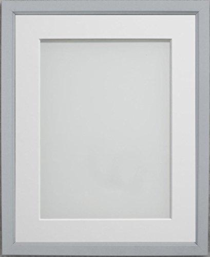 Frame Company Drayton Range Bilderrahmen 12,7x 12,7cm, Plastik, grau, 7x5-inch Mounted for Size 6x4-inch Image (Weiß 5x7 Bilderrahmen)