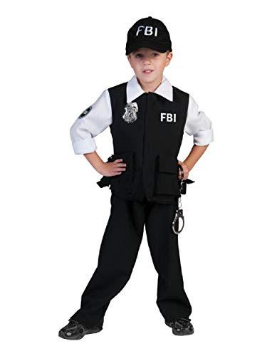 Fbi Agent Kostüm Herren - FBI Agent Kostüm Polizist für Jungen