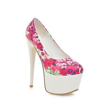CH&TOU Da donna-Tacchi-Formale Serata e festa-Comoda-A stiletto-PU (Poliuretano)-Giallo Verde Rosa rose pink