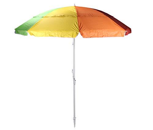 Meinposten Sonnenschirm Strandschirm mit Schraubdorn 190 cm Durchmesser HOHER UV 50+