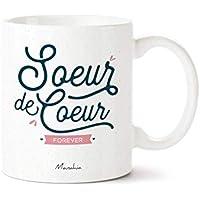 Mug - Soeur de coeur forever | Mug pour copine, cadeau copine, cadeau meilleure amie, cadeau de noel, cadeau d'anniversaire