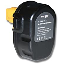 BATERÍA para herramientas eléctricas NI-MH 3000mAh para DEWALT color negro sustituye DC9091, DE9038, DE9091, DE9092, DE9094, DE9502, DW9091, DW9094