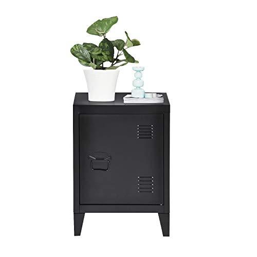 FURNITURE-R France Garderobe aus Metall, Maße 40,5 x 30,5 x 57,5 cm, Schwarz -