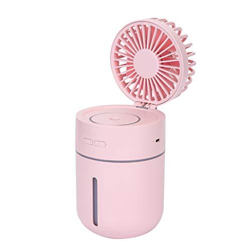 ay Befeuchtung Kühlventilator Mini USB wiederaufladbare tragbare Desktop persönliche Kühlung Nebel Luftbefeuchter elektrische Ventilatoren, kreative Geschenk ()