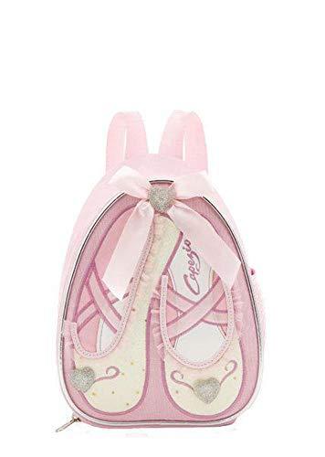 Capezio bambini piccolo zaino/borsa per il pranzo con motivo scarpe da danza b122c–rosa o lilla, pink (rosa) - i-b122cpos