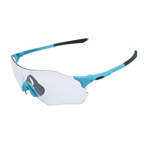 WULE-RYP Polarisierte Sonnenbrille mit UV-Schutz Randlose Sport-Sonnenbrille Polarized UV400-Schutz Fahren Radfahren Laufen Angeln Golf Verfärbung Brillen Superleichtes Rahmen-Fischen, das Golf fährt