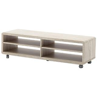 Robas Lund Lowboard, Table télévision, Meuble TV, Jeff XL, Chêne à noeuds/Bois massif, 120 x 39 x 35 cm, 30915SE6