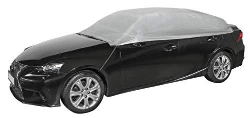 Walser 31017 Autoabdeckung Halbgarage Größe L hellgrau, wasserdichte Halbgarage, Staubdicht mit UV Schutz