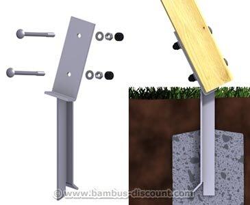 bambus-discount.com Bodenanker für A-Seitenteil Schaukel zum einbetonieren, 46cm - Kinderspielgeräte für Garten, Spielgeräte für Kinder, Spielturm, Spieltürme