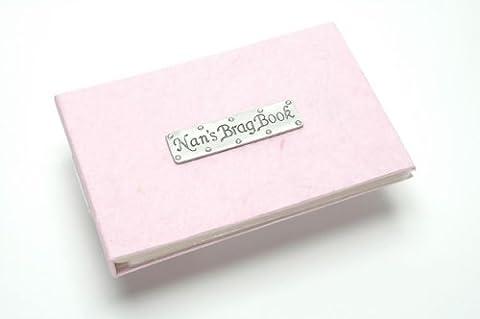 Nan's Brag Book (soft pink) pocket photo album. Holds 40 photos. By Metal Planet