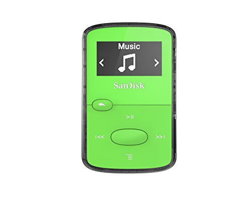 Reproductor MP3 SanDisk Clip Jam de 8 GB (sintonizador FM, MP3, AAC, WAV), color verde