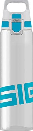 SIGG Total Clear ONE Aqua, Sport Trinkflasche, 0.75 L, Tritan, BPA frei, Türkis -
