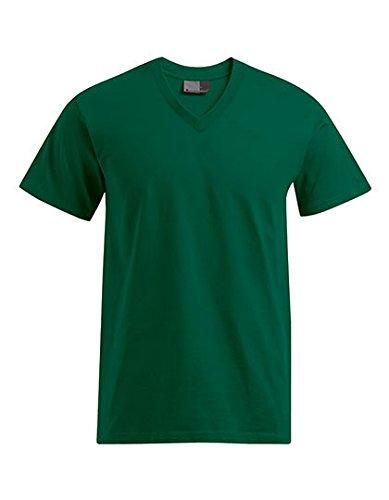 Premium V-Ausschnitt T-Shirt Plus Size Herren, 4XL, Waldgrün