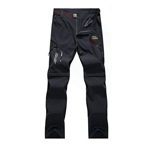 BWBIKE Pantaloni da Trekking da Uomo Pantaloni da Trekking Asciutti Quick Pantaloni da Trekking con Cintura per Il Campeggio di...