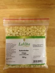 Kakaobutter Chips -Lebensmittelqualität -100g-