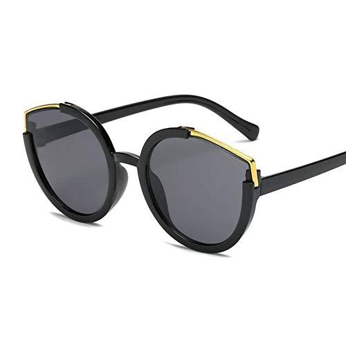 HSNCXD Sonnenbrillen Cat Eye Polarized light Sunglasses Women Retro Oversized Men Half Frame Shades Eyewear Female UV400