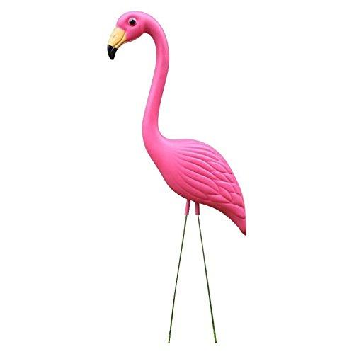 Baoblaze Lebensechte Rosa Flamingo Garten Rasen Kunst Ornamente Dekor - Hoch schauen, 80x40cm