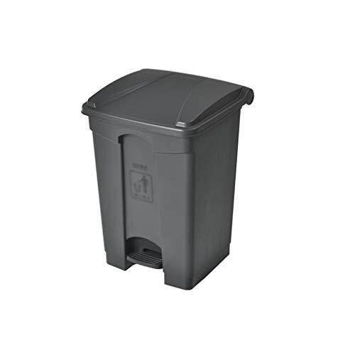 Garbage tribe Großer Abfalleimer, Pedal-Typ Outdoorjunk-Box Sauberer Abfalleimer Kommerziell Mit Deckel Outdoor-Papierkorb Mehrere Größen (Color : Gray, Size : 45L)