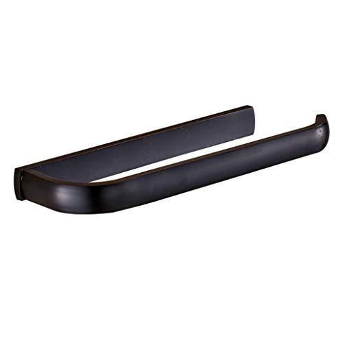 Handtuch-Ring-Holder, Bronze Bad Hand Hang Bar, Badezimmer-Accessoires-Kein Rusting, umweltverträglich Harmless, Side Opening Adapt an Bad Balkon Küche (11,2 Zoll),Black -