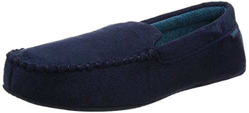 Isotoner Moccasin Driving Sole Slippers, Chaussons Homme, Bleu (Navy), 45-46 EU (10-11 UK)