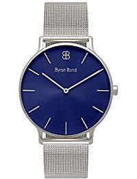 Byron Bond Mark 3 Herren-Armbanduhr - Minimalistisch Klassisch und Wasserdicht - Dünnes 41 mm-Gehäuse - Business-Armbanduhr